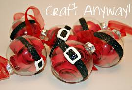 craft anyway santa belly ornaments