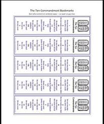 free templates for children s bookmarks ten commandments bookmarks free printable for kids ten