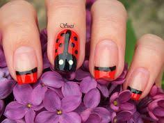 ladybird ladybug nail art manicure with tutorial hair nails