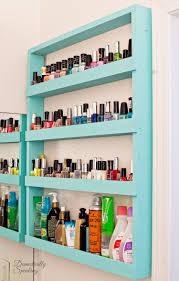 bathroom storage nail polish shelf domestically speaking bathroom storage nail polish shelf diy