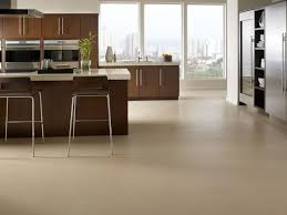 Kitchen Flooring Reviews Top Divine Beige Color Birch Cork Kitchen Floor Features Rectangle
