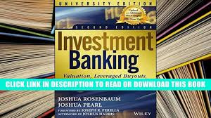 ebook full investment banking valuation leveraged buyouts and