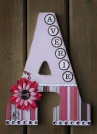 wooden letter painters tape aqua paint and pearls craft