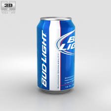 bud light beer can budlight beer can 330 ml 3d model