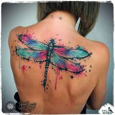 watercolor dragonfly tattoo watercolor tattoos dragonfly tattoo