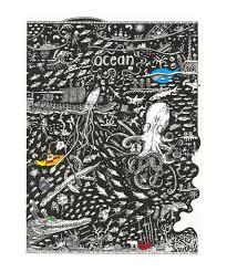 ocean art print u2013 the tiny art co