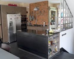 best industrial brick kitchen with orange bricks wall colore and