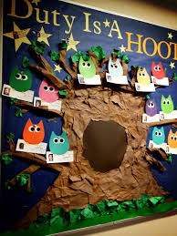 super cute owl themed duty board ralife housing pinterest