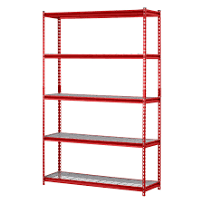 Shelving Units Muscle Rack 5 Shelf Steel Garage Storage Wire Shelving Unit