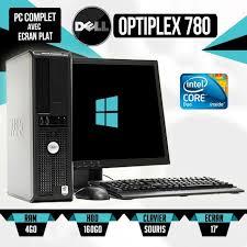 pc bureau avec ecran ordinateur de bureau dell optiplex 780 ecran pc 17 pouce prix