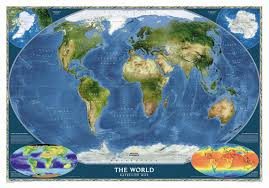 World Wall Map by National Geographic Maps World Satellite Wall Map U0026 Reviews Wayfair