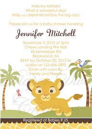 lion king baby shower invitations dhavalthakur com