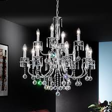 12 Light Chandeliers Fl2155 12 Taffeta 12 Light Chrome Chandelier