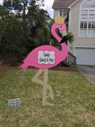 emerald isle nc pink flamingo lawn sign rental coast