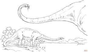 diplodocus sauropod dinosaur coloring page free printable