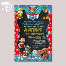 best 25 paw patrol birthday invitations ideas on pinterest paw