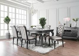 formal dining table set furniture of america cm3219gy t amina dining room set dallas