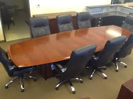 Boat Shaped Boardroom Table Used 12ft Boat Shaped Conference Table