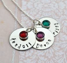 Mom Necklaces With Children S Names Personalized Birthstone Mommy Necklace Mothers Gift Kids Names
