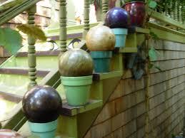 12 Inch Glass Gazing Balls Debra Prinzing Post Circles Spheres Orbs And Globes In My