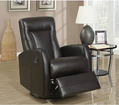 real leather swivel recliner chairs molly bonded leather swivel recliner brown bonded leather