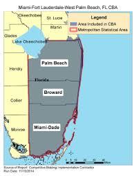 Palm Beach Florida Zip Code Map Cbic Round 1 2017 Competitive Bidding Area Miami Fort
