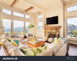 great room large house beautiful living stock photo 279252662