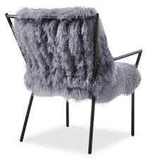 Accent Chairs Black And White Lara Sheepskin Accent Chair Black And Gray Value City Furniture