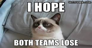 Funny Super Bowl Memes - grumpy cat super bowl prediction wititudes