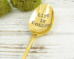50th anniversary gold plate gold spoon etsy