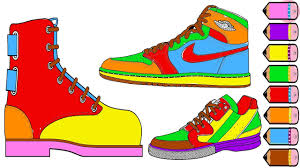 shoes drawing and coloring pages for kids youtube