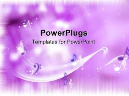 powerpoint template bright purple background with music notes 21076