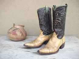 womens vintage cowboy boots size 9 vintage tony lama cowboy boots womens size 8 5 to 9 brown leather