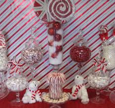 red and white candy cane christmas holiday party ideas mesas