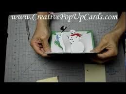 christmas pop up card magical snowman tutorial christmas