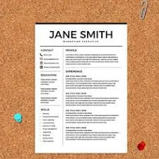 Vintage Resume Template Vintage Resume Template Cover Letter Template By Chictemplates