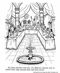 queen ester testament coloring pages bible printables