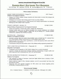 software testing sample resume resume sample