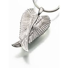 cremation pendants cremation jewelry silver angel wings urn jewelry