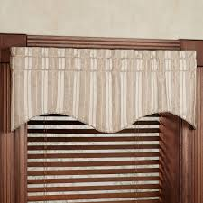 Kitchen Curtains And Valances Cooper Striped Scalloped Window Valance