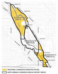 Chicago District Map by North Branch Industrial Corridor Would Dissolve Revert To