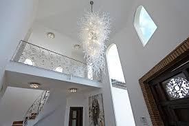 elegant large chandelier in dining room add depth to your house