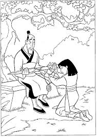 mulan coloring pages coloringpages1001