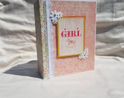 baby girl photo album baby girl album etsy
