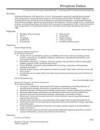 Resume Sample For Mechanical Engineer by Sample Resume Plumbing Design Engineer Resume Ixiplay Free