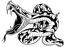 classic black tribal snake tattoo design