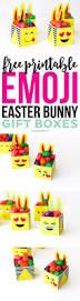 free printable emoji easter bunny boxes printable crush