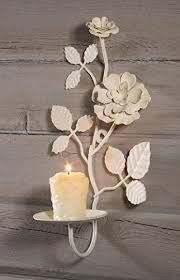 Shabby Chic Wall Sconce by Metal Ivory Vintage Rose Candle Sconce Shabby Chic Wall Https