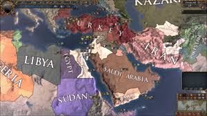 Middle East Map Games by Europa Universalis 4 Modern Greater Middle East Custom Nations