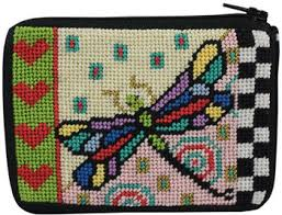 peterson coin purse dragonfly needlepoint kit sz191